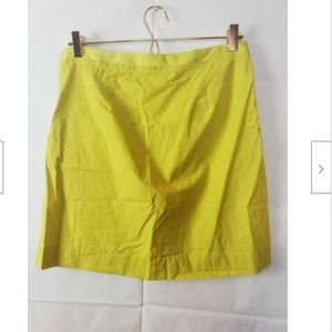 J. Crew Skirts - J. Crew Fit & Flare Neon Yellow Pleated Skirt